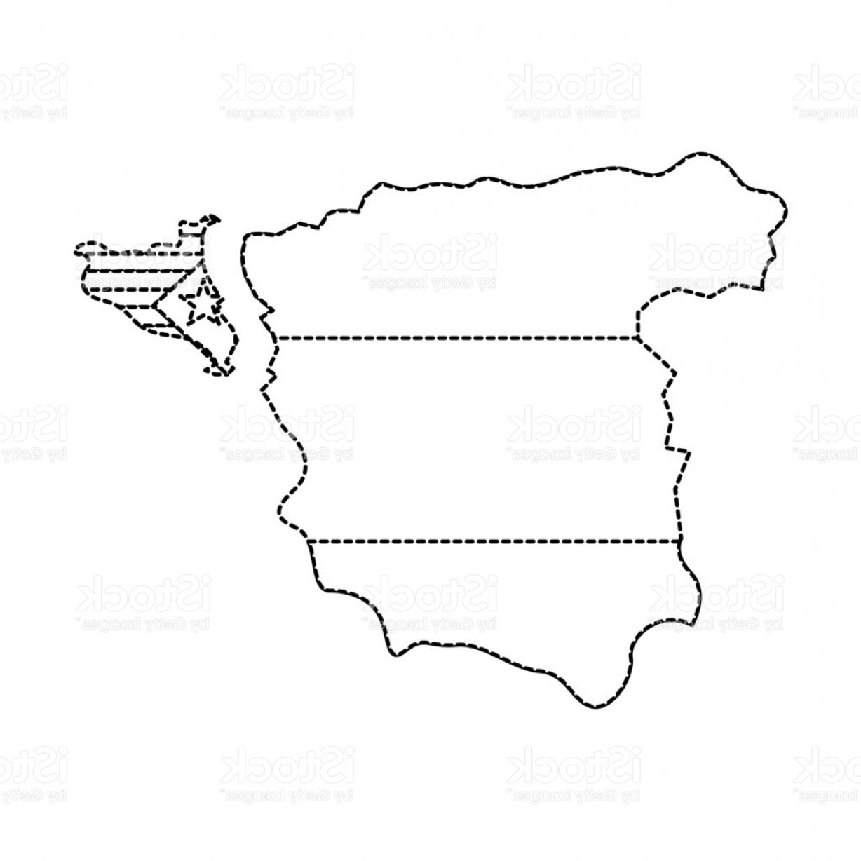 Spain Outline Vector: Catalunya Flag And Country Outline Separated From Spain Icon Ima Gm