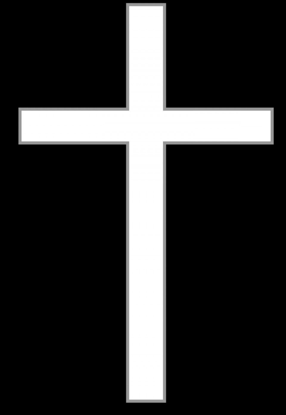 Vector Crosses SVG: Catholic Cross Clipart Black And White
