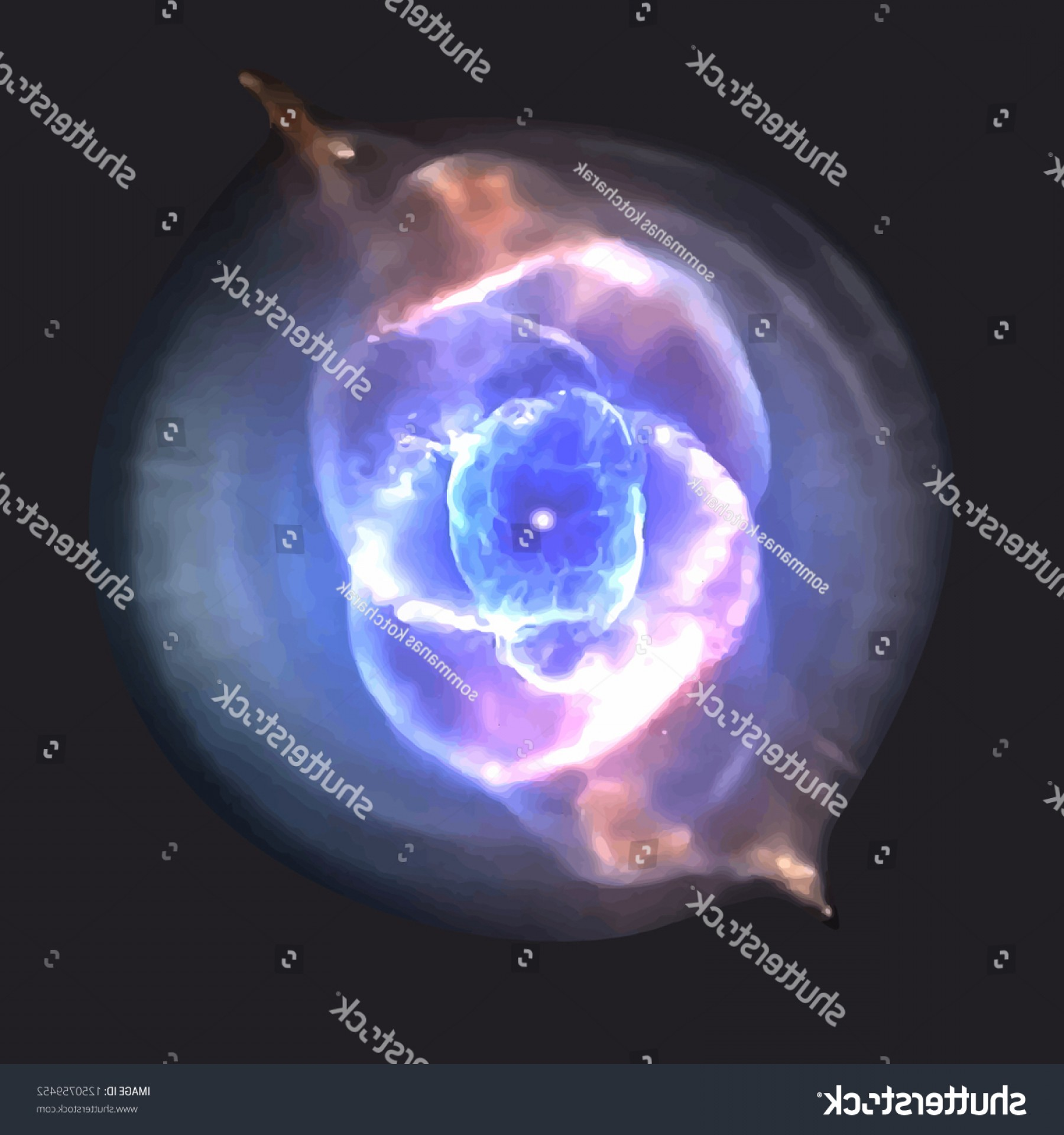 Space Vector Graphics: Cats Eye Nebula On Space Vector
