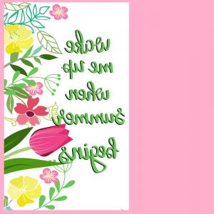 Floral Vector Calligraphy: Calligraphy Inspirational Quote With Floral Vector