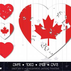 Union Jack Flag Tattered Vector: Canada Heart Canadian Flag Maple Leaf