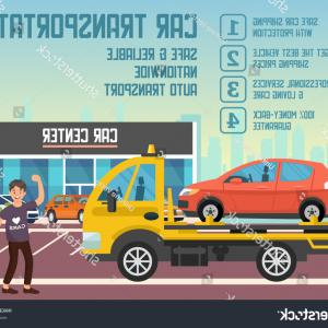 Nationwide Insurance Vector: Car Transportation Transporter Service Concept Roadside