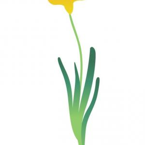 Tulip Icon Vector: Cartoon Abstract Yellow Flower Tulip Icon Vector Image Zmscypsluexnal