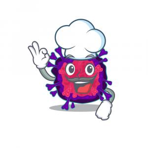 Cute Chef Hat Vector: Cartoon Chef Hat Pointing Vector