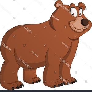 Bear Vector Illustration: Cartoon Cute Bear Vector Illustration Funny
