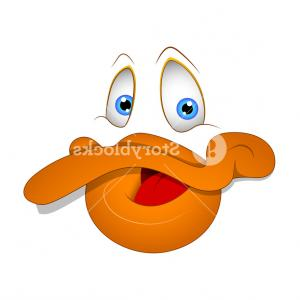 Cartoon Duck Vector: Photostock Vector Cute Duck Cartoon Giving Thumb Up
