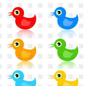 Cartoon Duck Vector: Stock Photography Little Duck Vector Illustration Cartoon Design Element Image