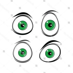 Green Cartoon Eyes Vector Png: Cute Smiling Girl Red Hair Green