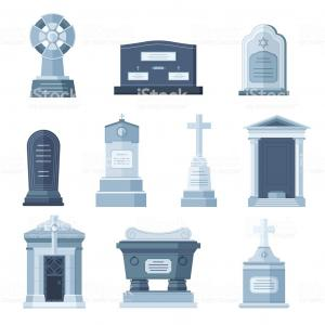 Gravestone Dirt Vector: Cartoon Grave With Tombstone A Vector Illustration Image