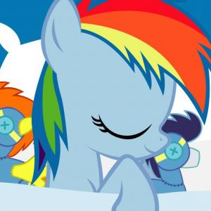 Cool Rainbow Dash Vector: Cartoon My Little Pony Rainbow Dash Vector Wallpaper