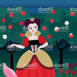 Alice Queen Of Hearts Vector: Png Alice In Wonderland Queen Of Hearts King Of Hearts