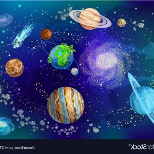 Space Background Vector Art: Abstract Space Background Vector Art Image