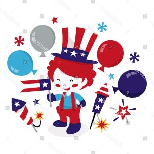 Americana Vector Art: Americana Vector Cartoon Clip Art Of A Waving American Flag On A Pole In The Ground By Lafftoon