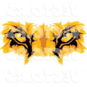 Male Eyes Vector Graphic: Cartoon Vector Of Lion Eyes By Chromaco