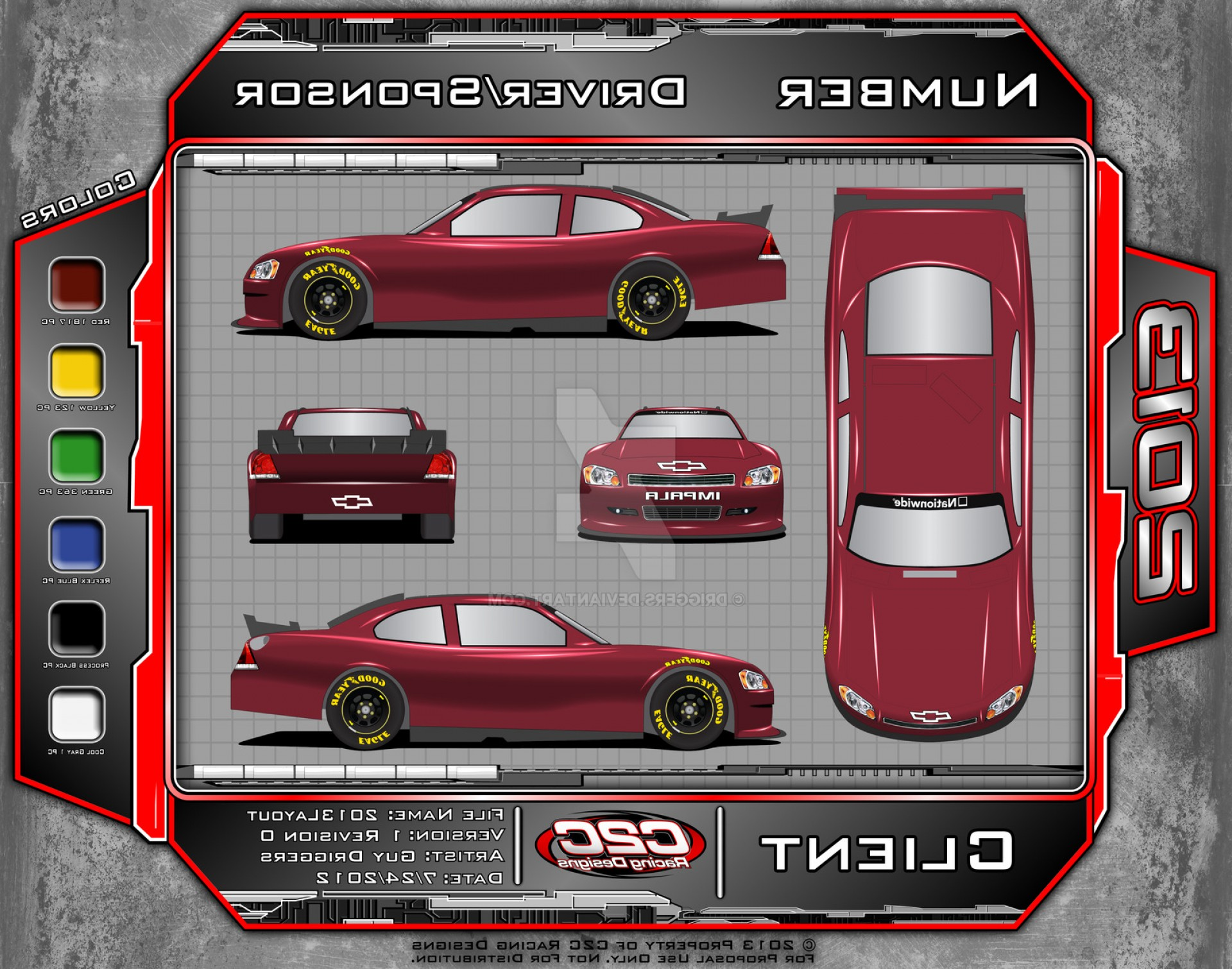 Late Model Race Car Vector Art: Cc Racing Designs Template