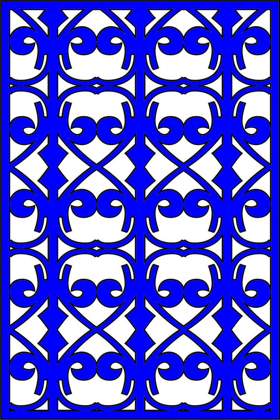 Wrought Iron Vector For CNC: Cdr Cnc File Free Vector Cn L