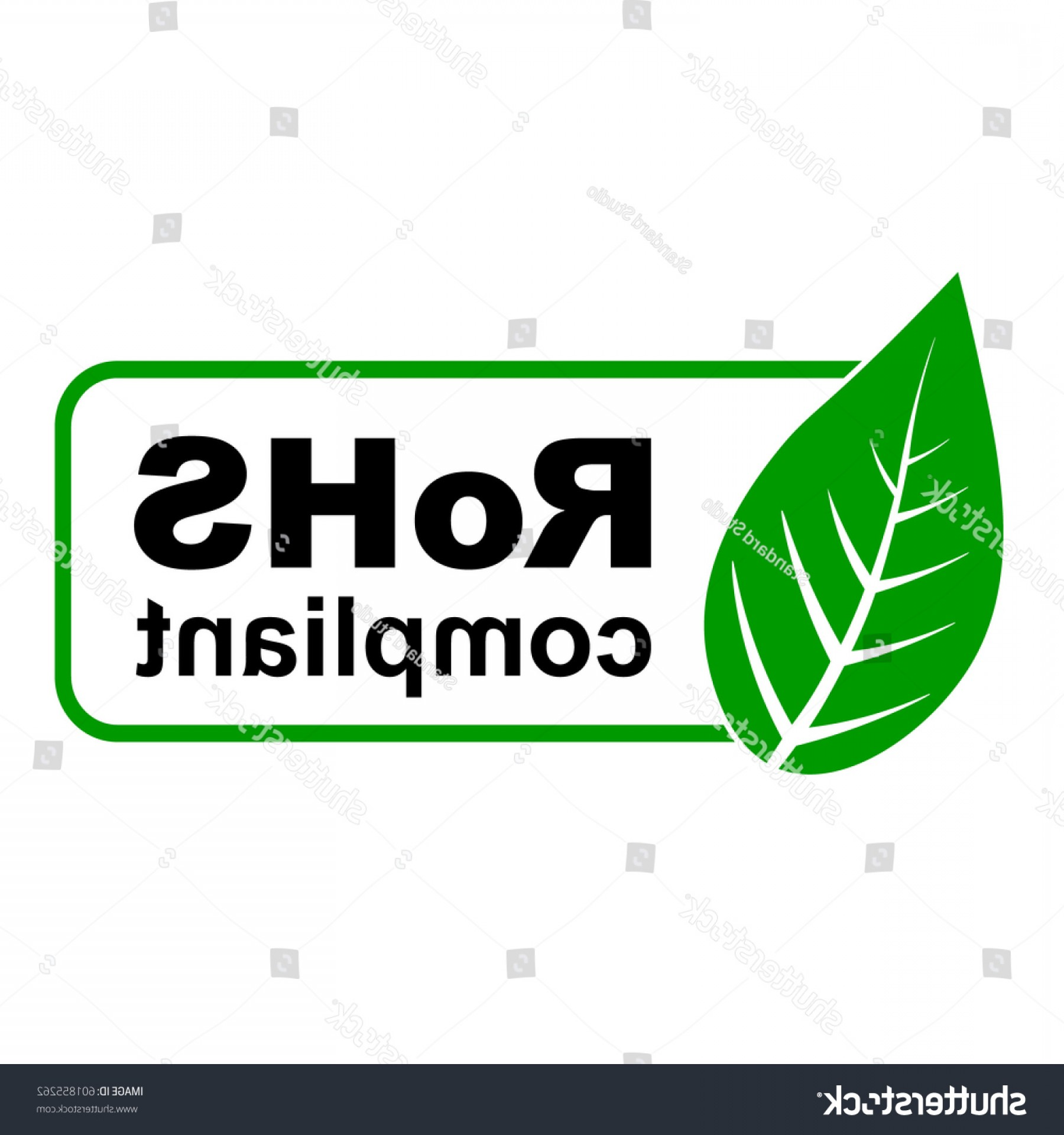 RoHS Logo Vector: Ce Rohs Compliant Sign Green Leaf
