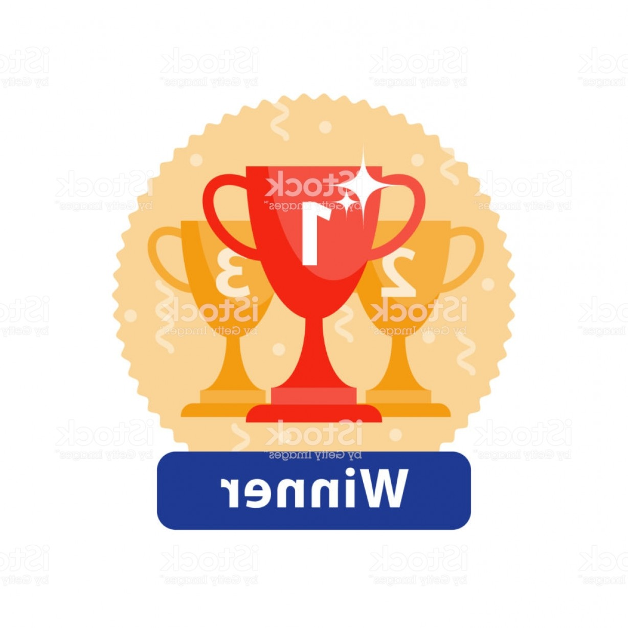 Champion Vector Art: Celebration Winner Cup First Place Award Icon Champion Goblet Top Success Gm