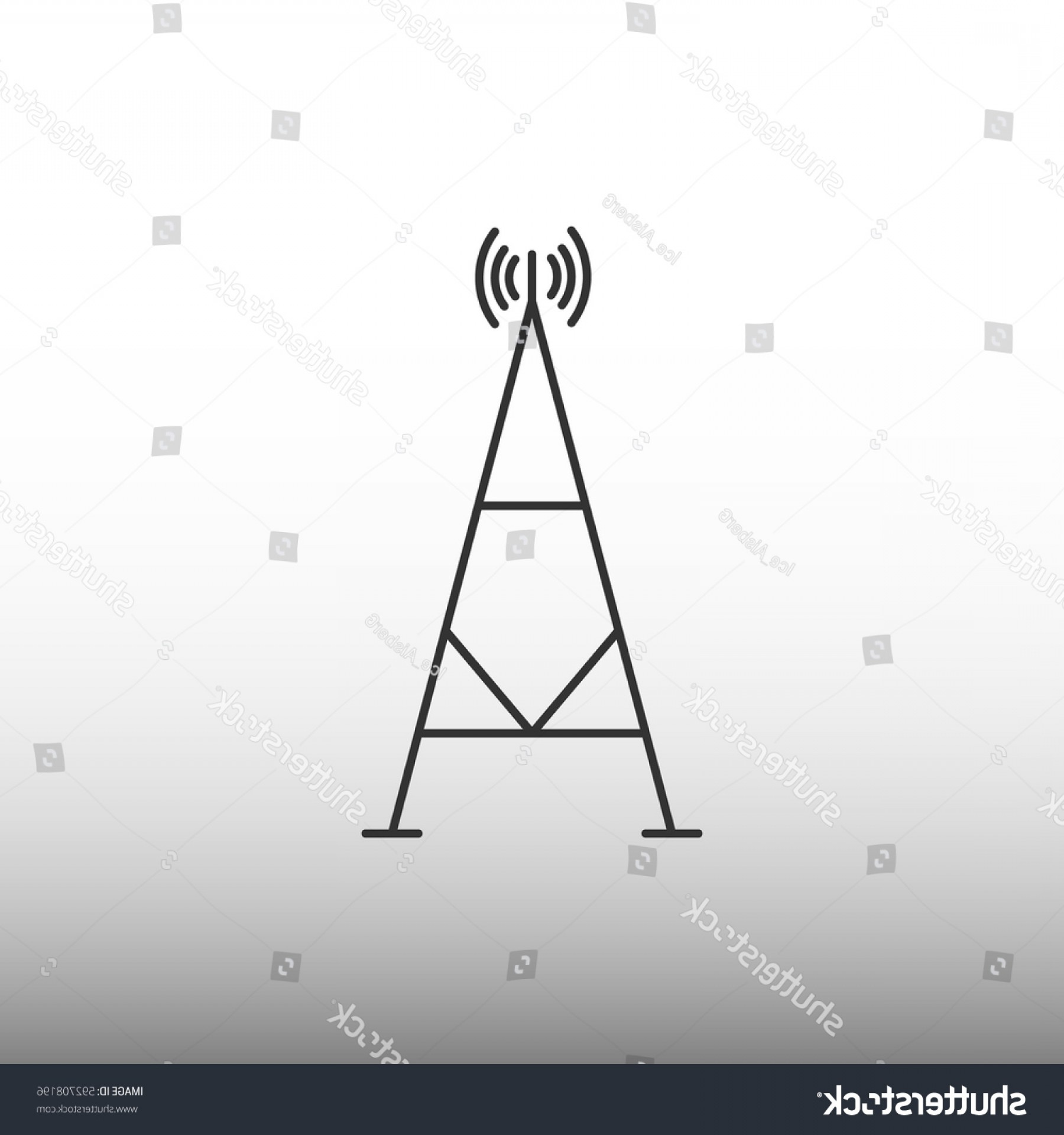 Vector Phone Tower: Cell Phone Tower Vector Icon