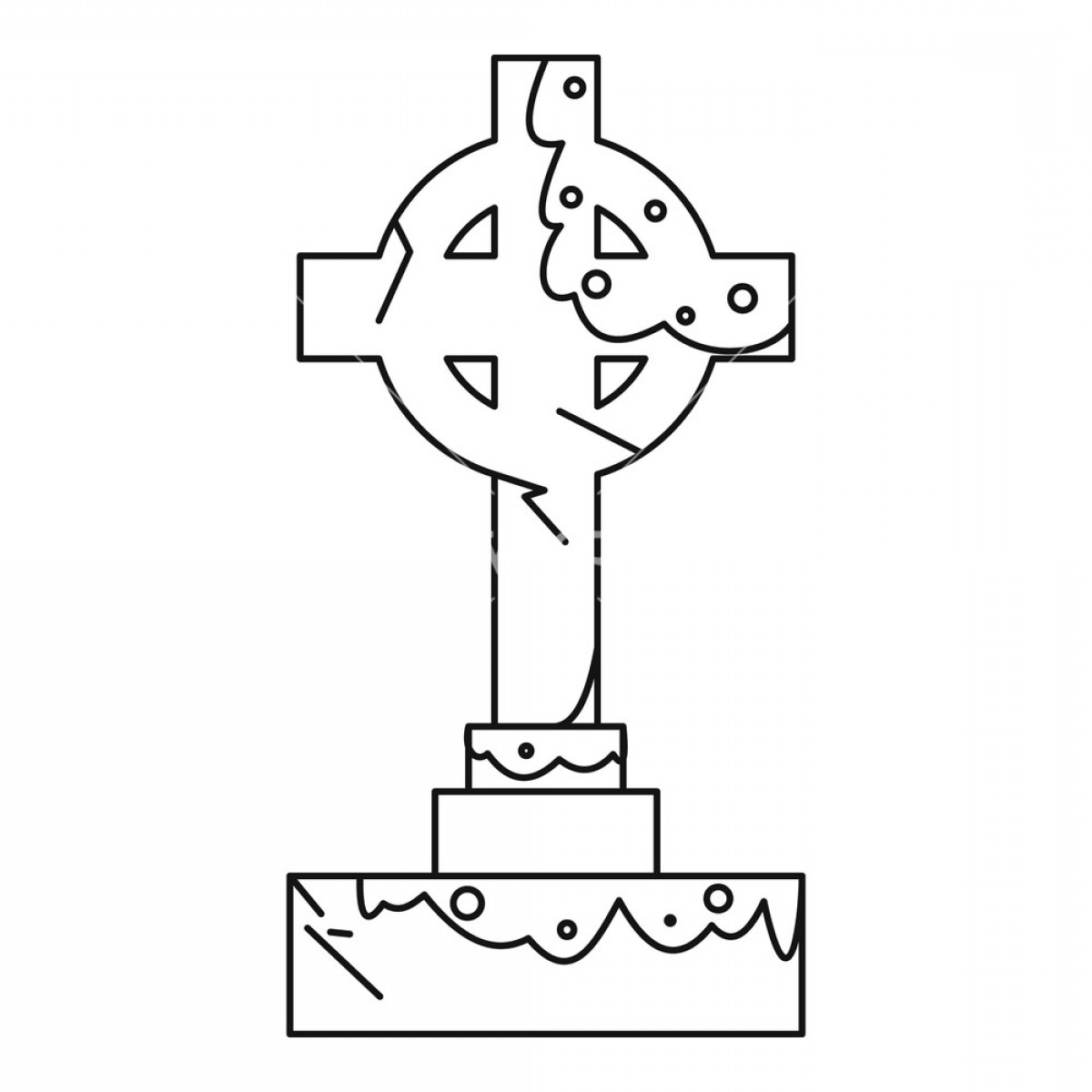 Gravestone Outline Vector: Celtic Cross Gravestone Icon Outline Illustration Of Celtic Cross Gravestone Vector Icon For Web Bxnhtuiqeqjiwjir