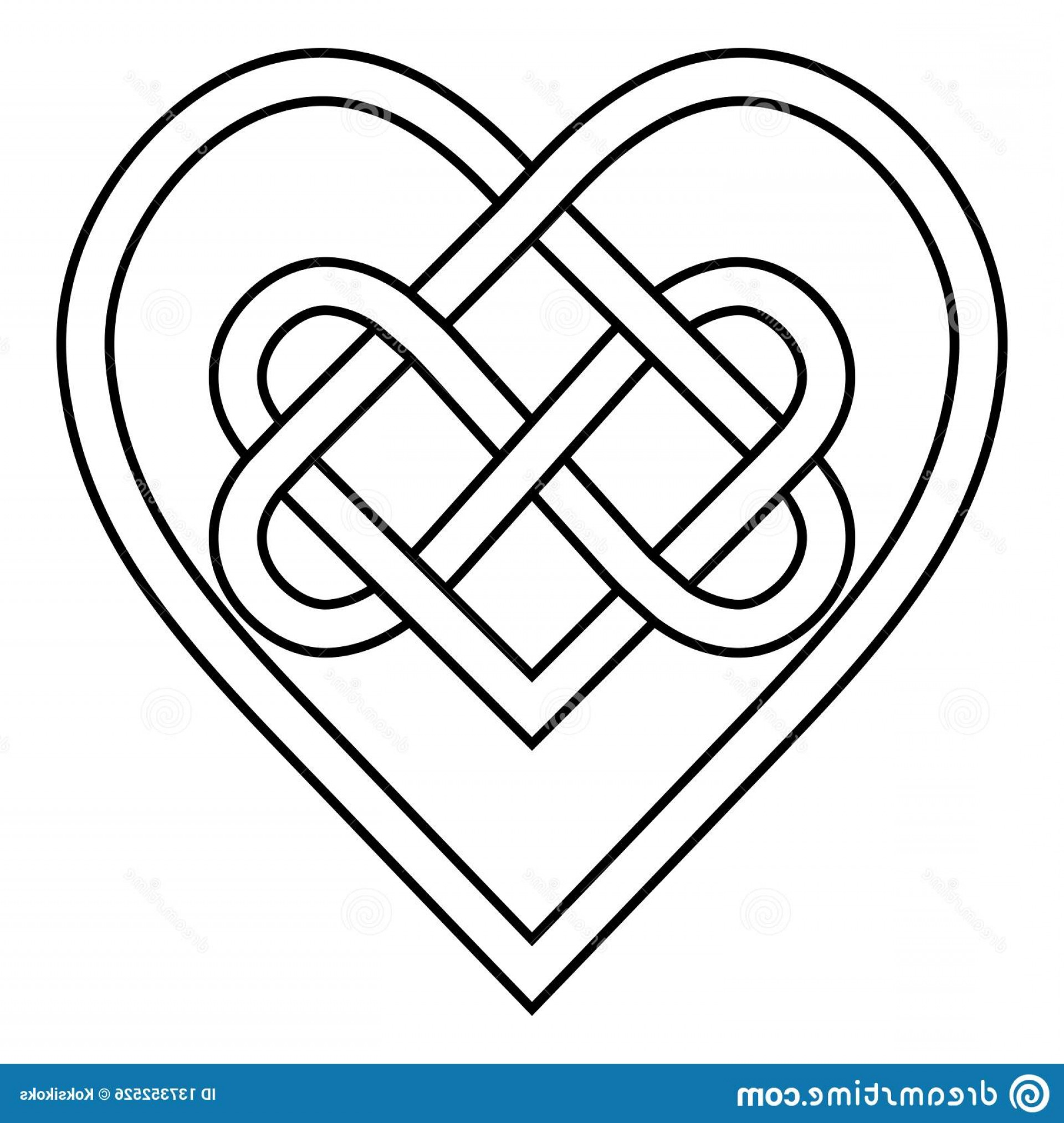 Infinity Heart Tattoo Vector: Celtic Knot Rune Bound Hearts Infinity Vector Symbol Sign Eternal Love Tattoo Logo Pattern Hearts Celtic Knot Rune Bound Image