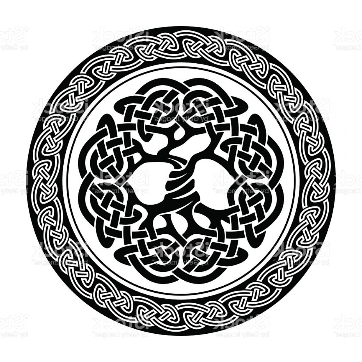 Celtic Tree Vector: Celtic Tree Of Life Gm