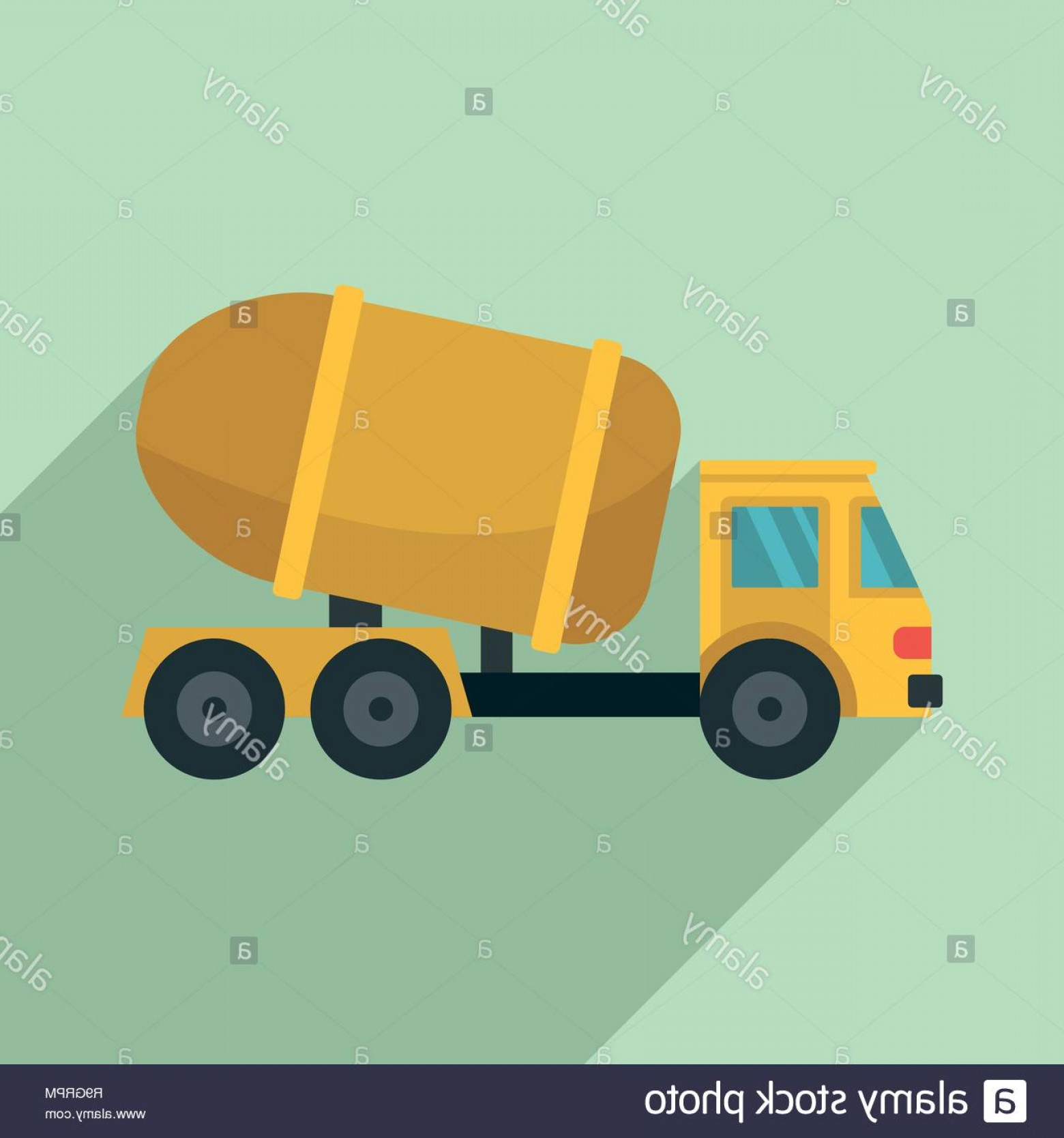 Packages On A Truck Vector: Cement Truck Icon Flat Illustration Of Cement Truck Vector Icon For Web Design Image