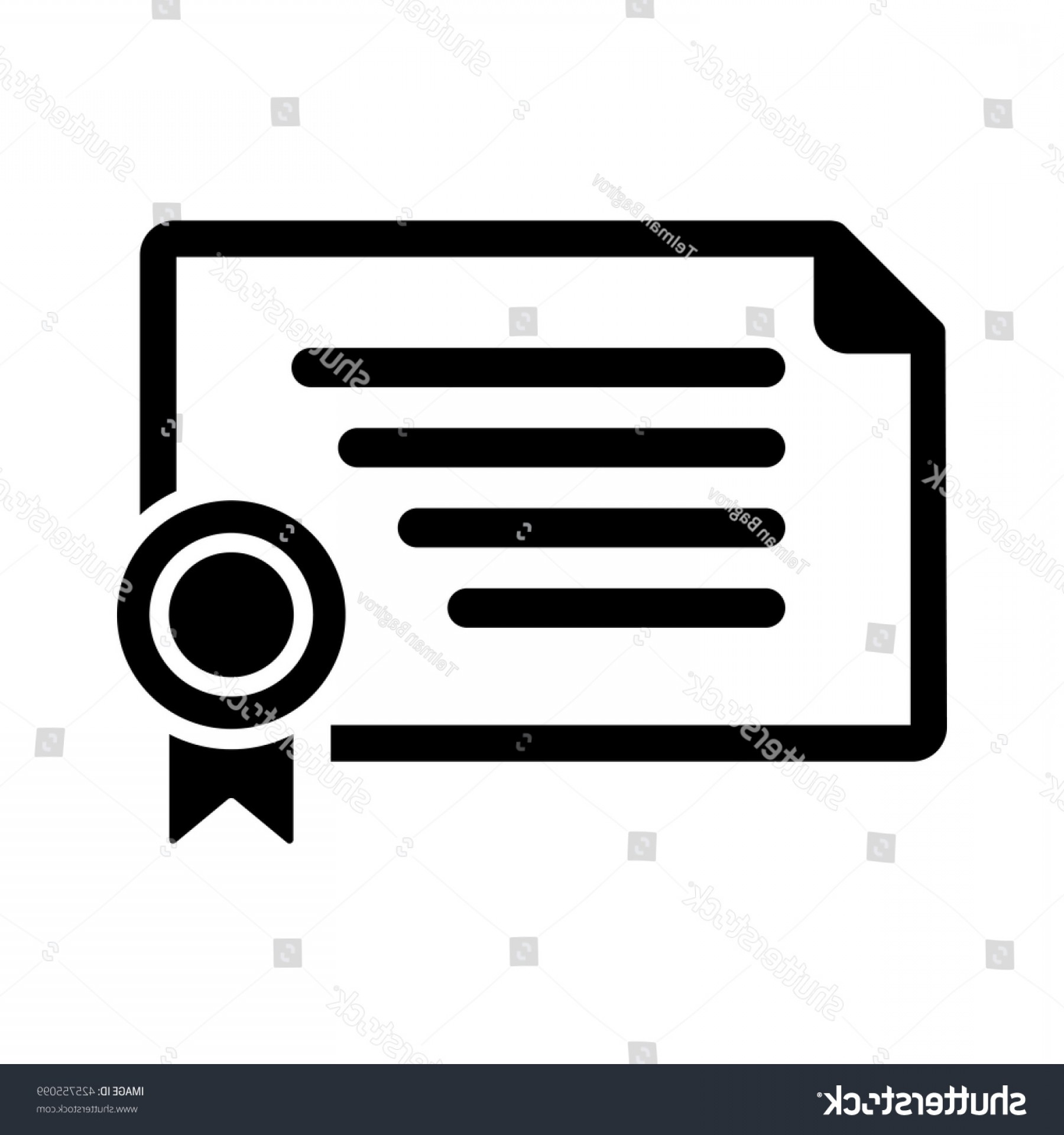 Diploma Icon Vector: Certificate Diploma Icon On White Background