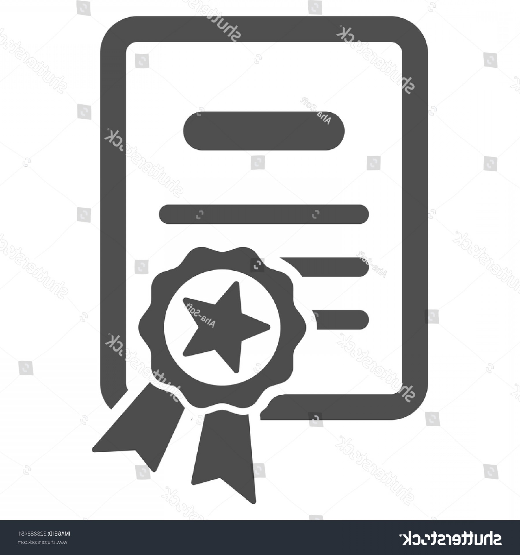 Diploma Icon Vector: Certified Diploma Vector Icon Style Flat