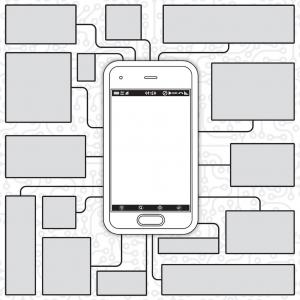 Blueprint Vector Graphics: Cellphone Blueprint Vector Eps Ai File