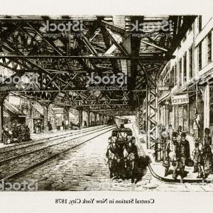 Vector Scissors Truss: Central Station In New York City Victorian Engraving Gm