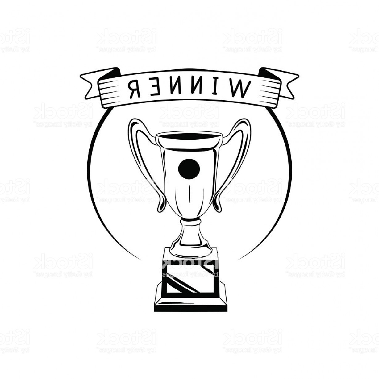 Ice Champions Cup Vector: Champions Trophy Cup Vector Award Symbol Vector Illustration Isolated Gm