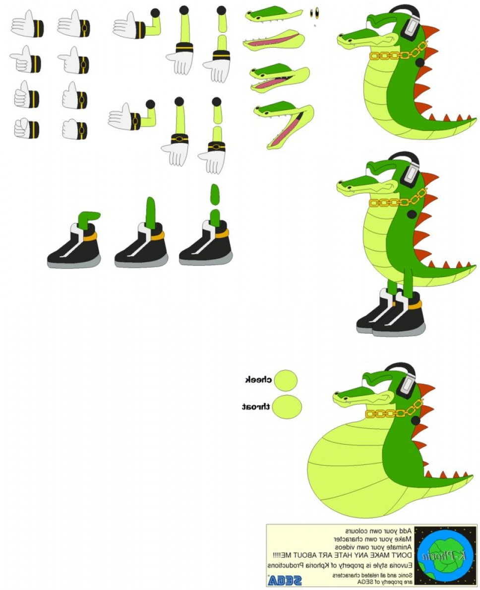 Vector Sonic X Drawings: Character Builder Vector The Crocodile