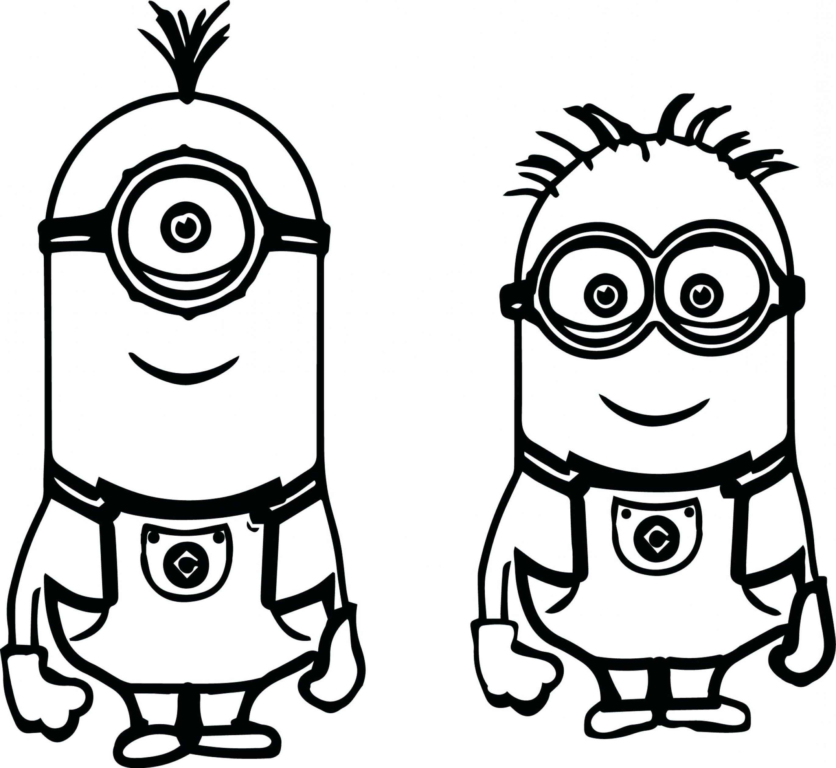 Minion From Despicable Me 2 Vector Image: Characters In Despicable Me Coloring Pages Free