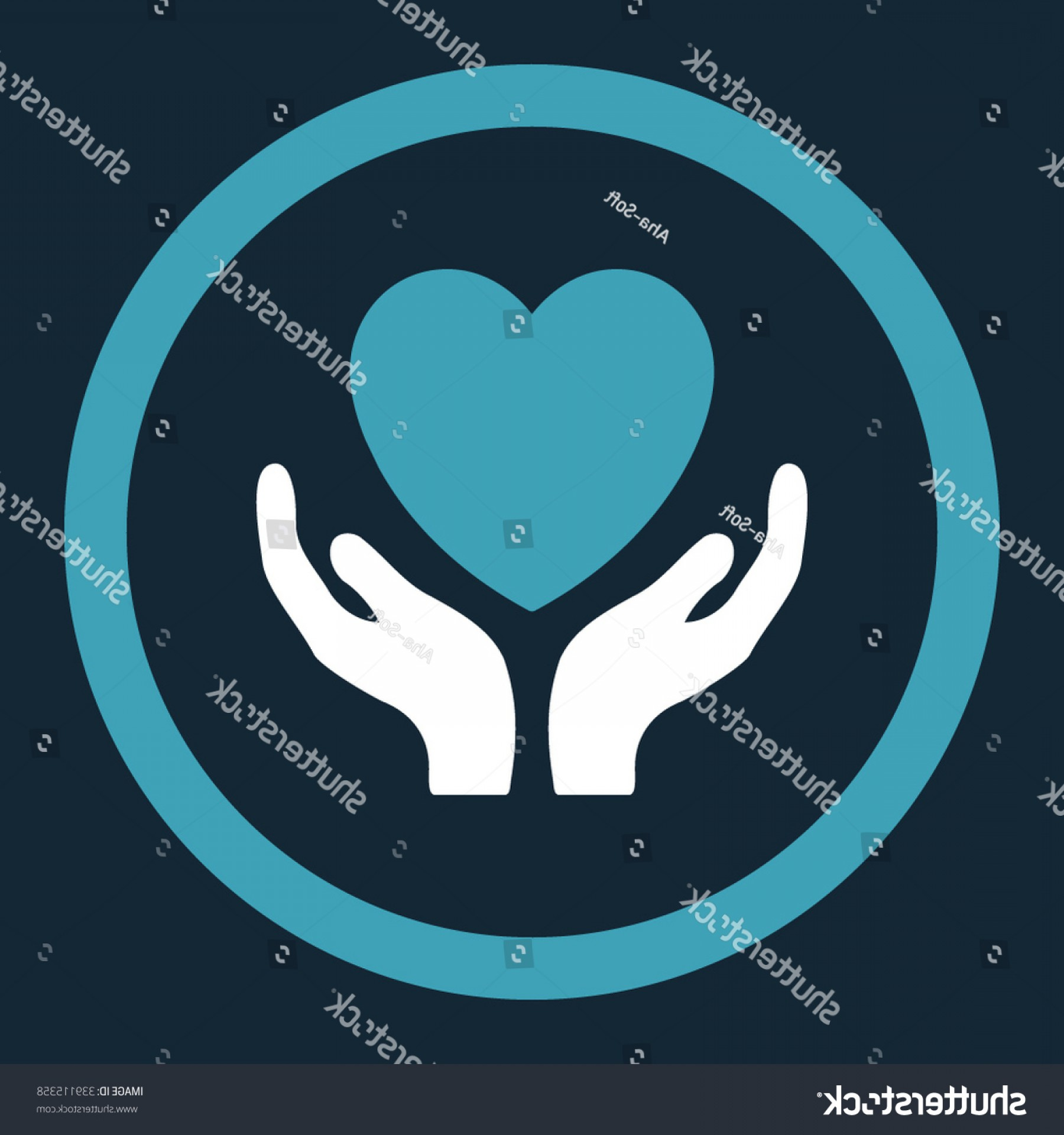 Charity Meter Vector: Charity Vector Icon Style Flat Rounded