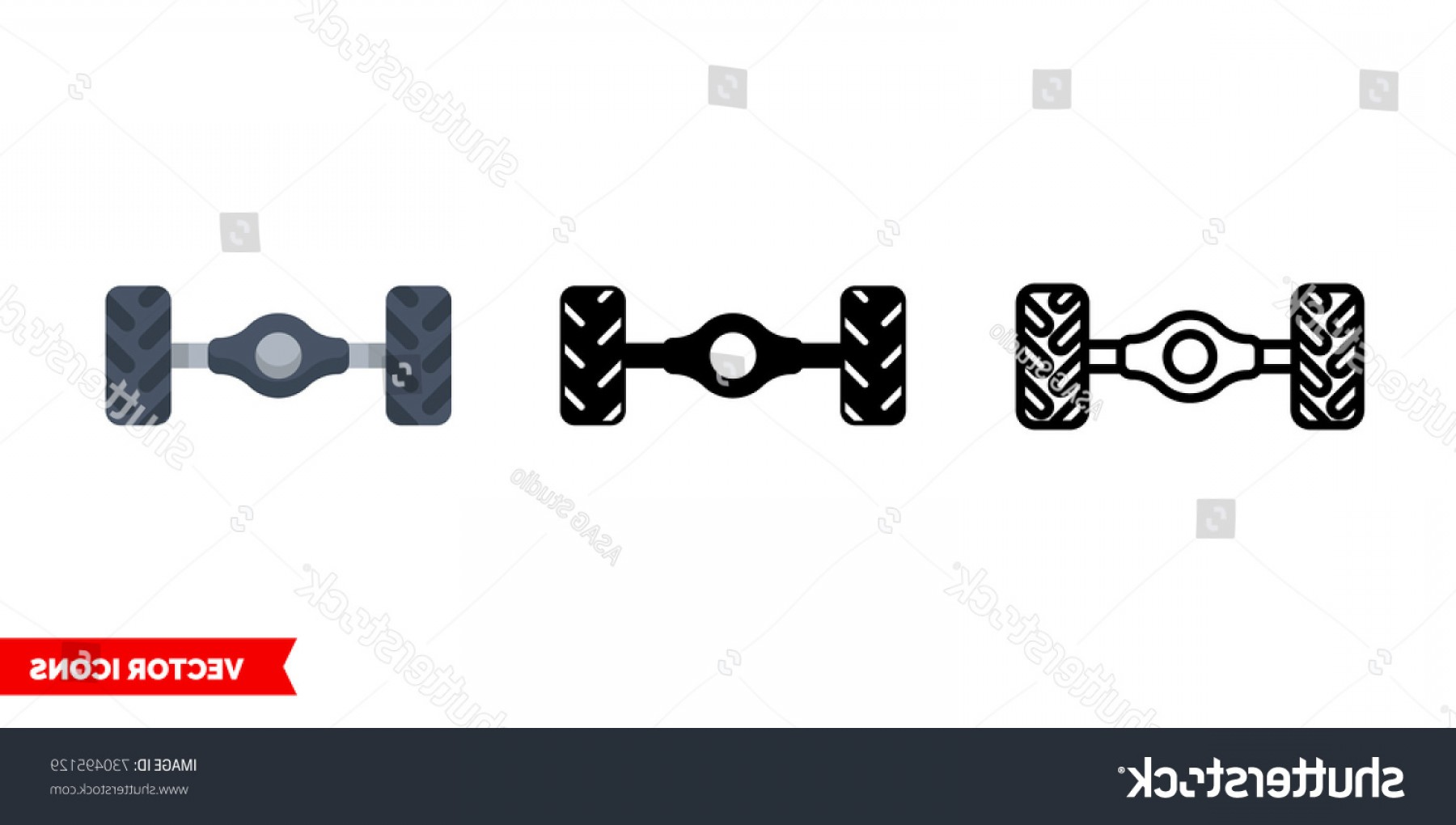 Bumper Barbell Vector: Chassis Icon Types Color Black