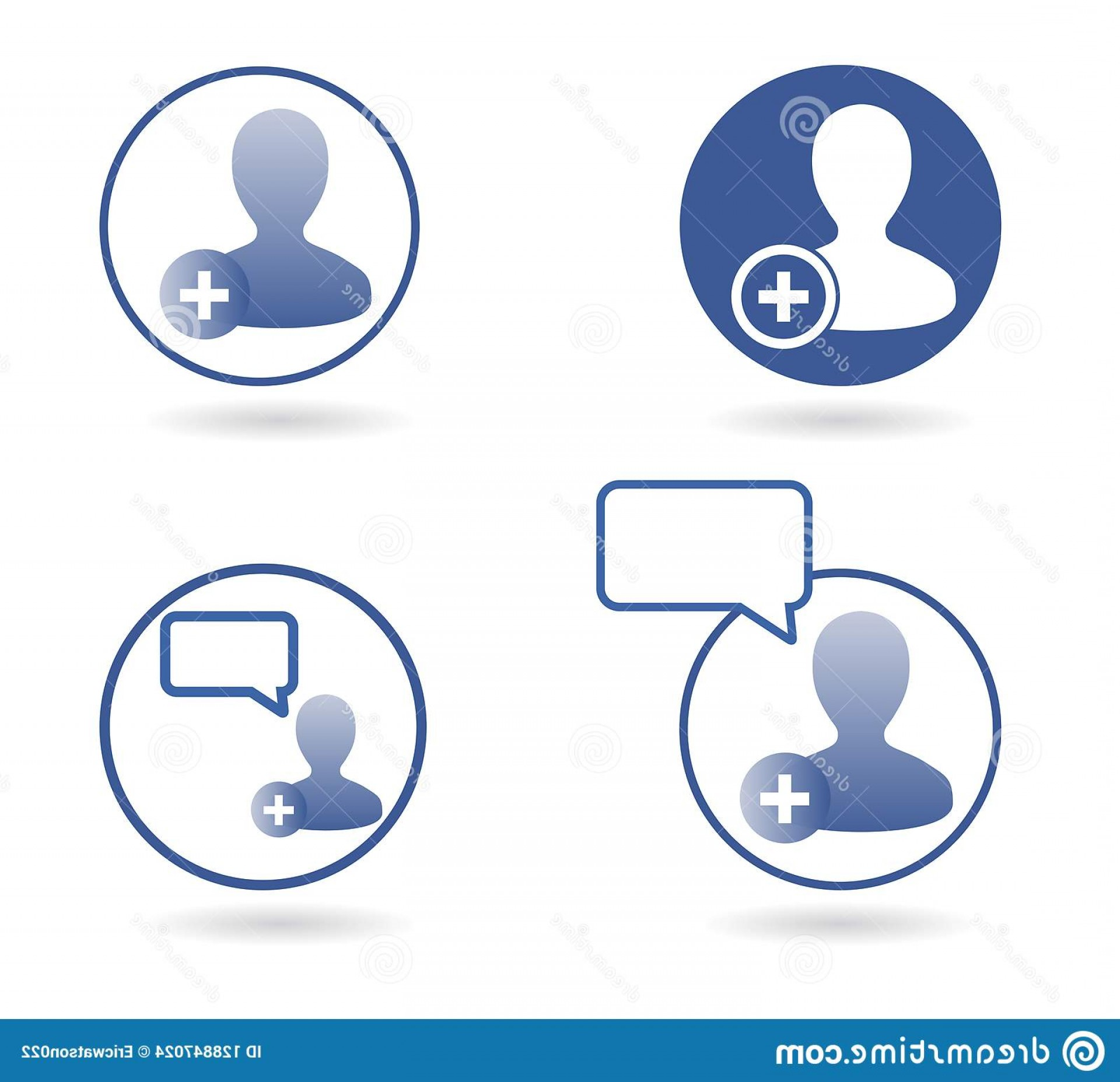 Finger Facebook Vector: Chat Icons Collection Vector Facebook Isolated White Background Chat Icons Facebook Social Media Icons Set Vector Image