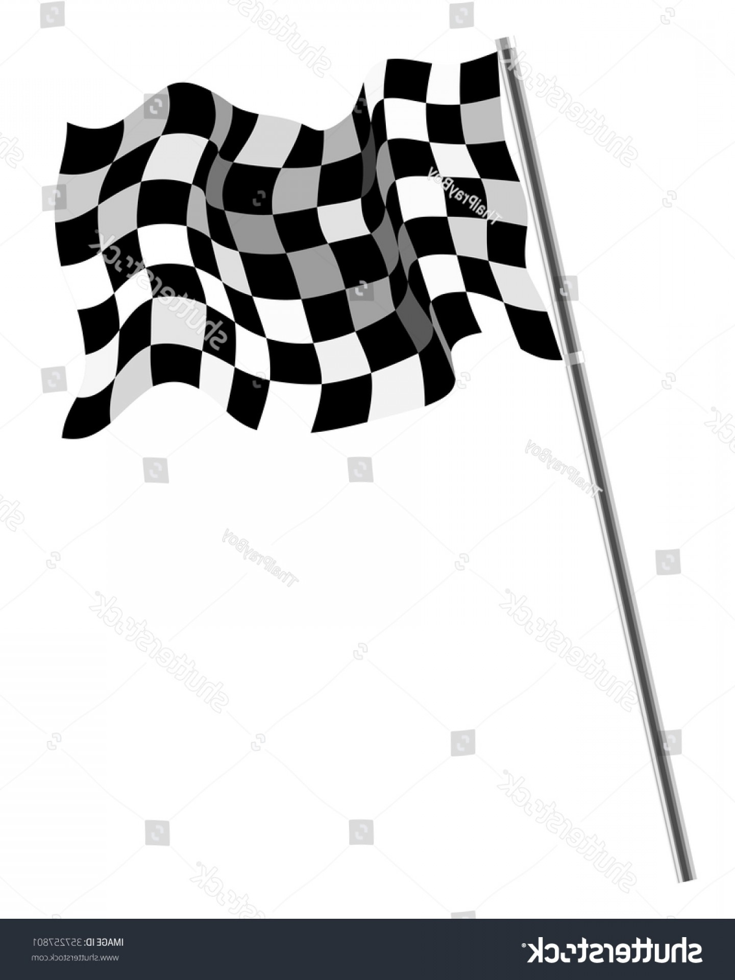 Vector Checkered Flag Heart: Checkered Flag Isolated Flat Design