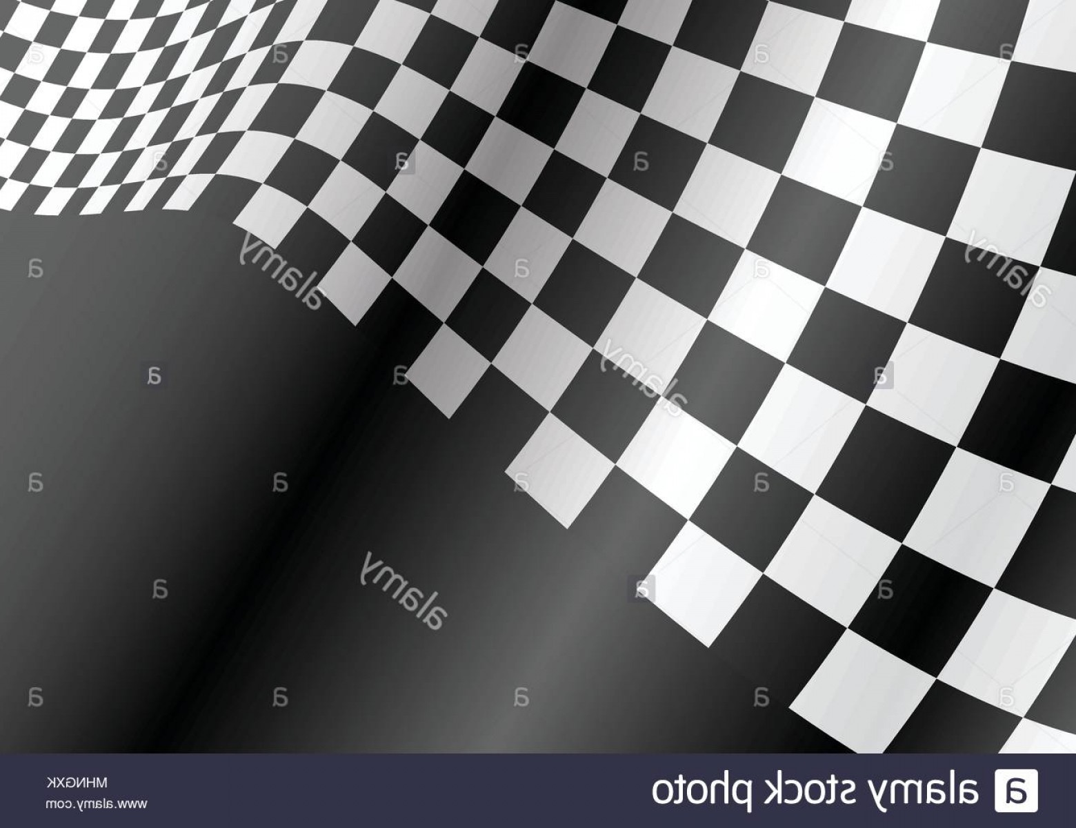 Checkered Flag Background Vector: Checkered Flag Wave On Gray Design Race Championship Background Vector Illustration Image