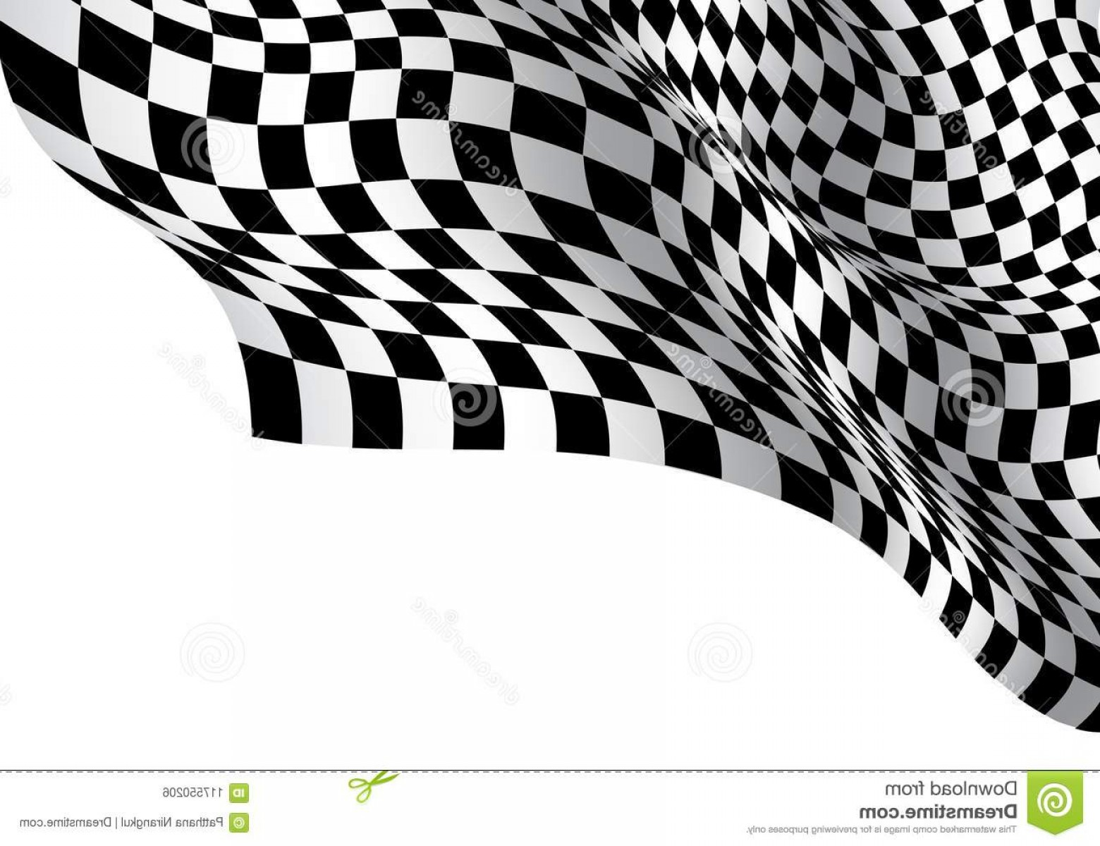 Black And White Vector Racing Graphics: Checkered Flag Wave White Blank Space Design Sport Race Championship Business Success Background Vector Checkered Flag Wave Image