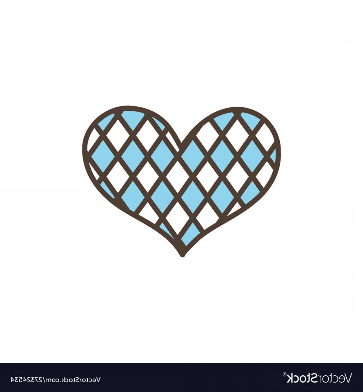 Vector Checkered Flag Heart: Checkered Heart Oktoberfest Icon Line Filled Vector