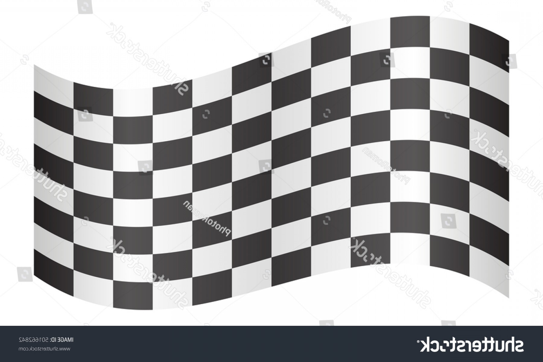 Checkered Flag Background Vector: Checkered Racing Flag Symbolic Design End