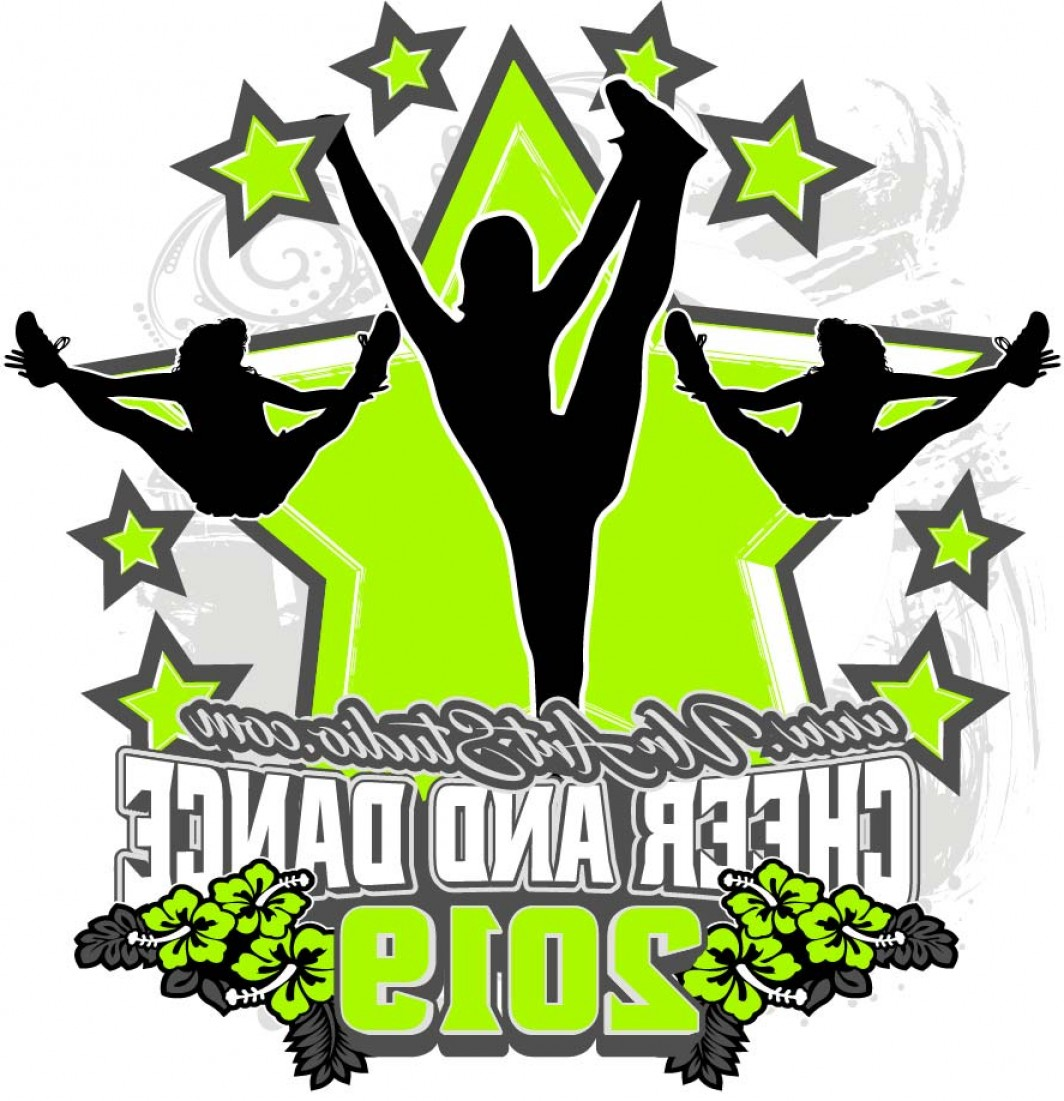 Cheerleading Vector Art EPS: Cheer And Dance Adjustable Logo Design Eps Ai Pdf