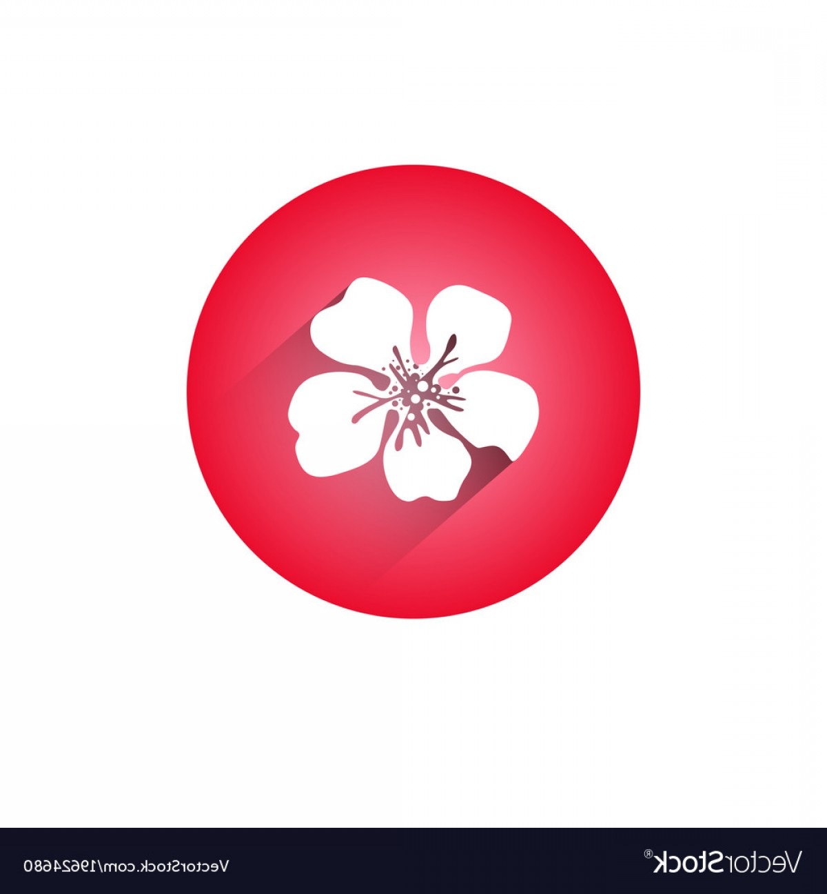 Icon Of Flower Vectors: Cherry Blossom Icon Japanese Sakura Flower Vector