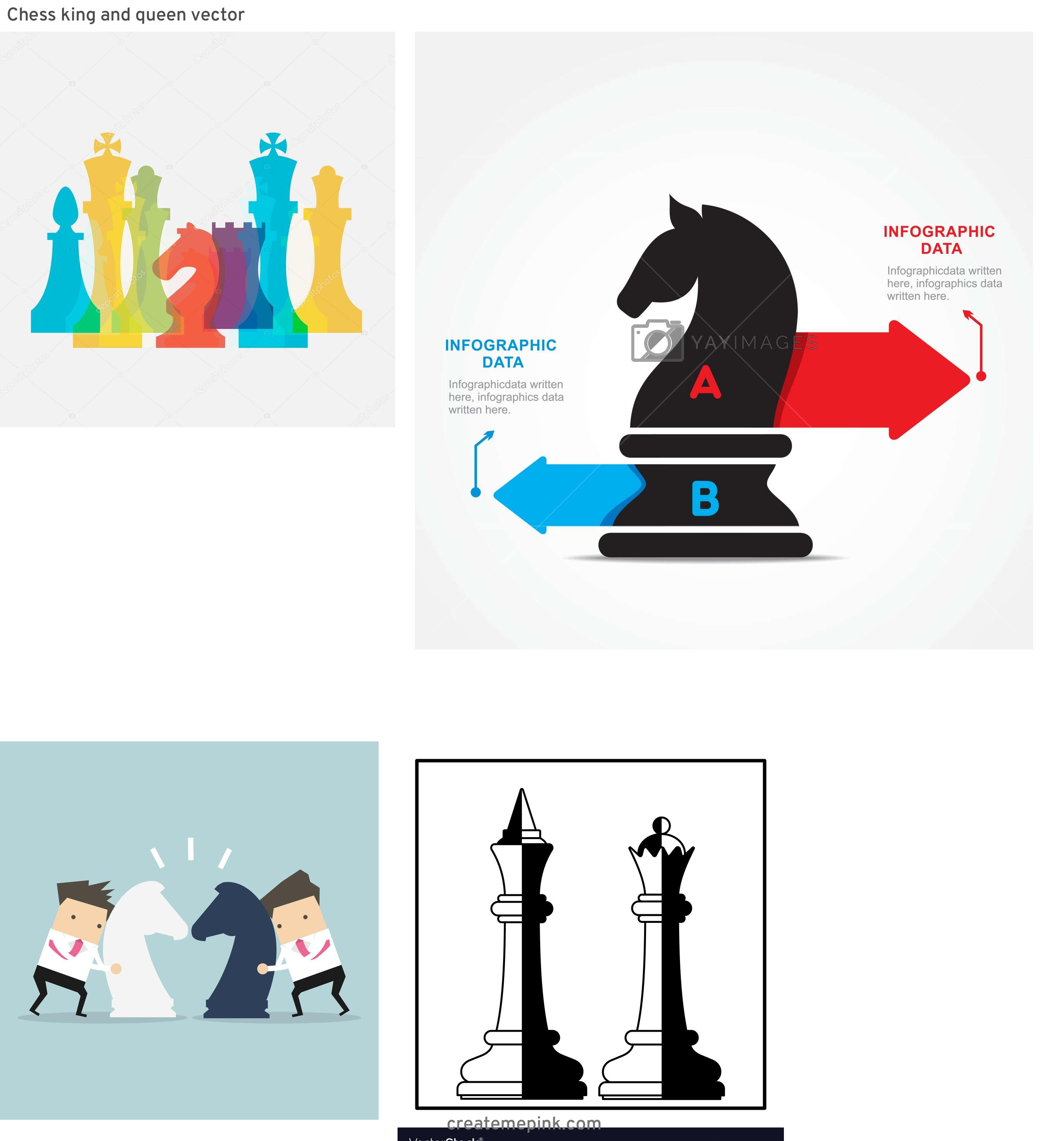 Chess Vector Graphic: Chess King And Queen Vector