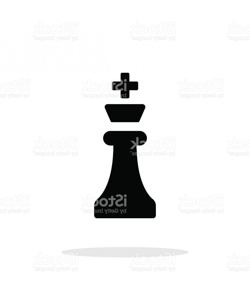 Chess Vector Background: Chess King Simple Icon On White Background Gm