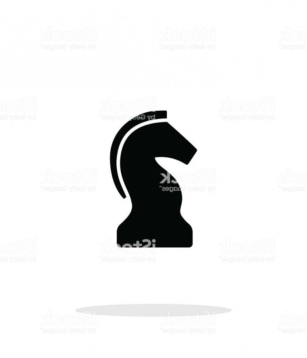 Chess Vector Background: Chess Knight Simple Icon On White Background Gm
