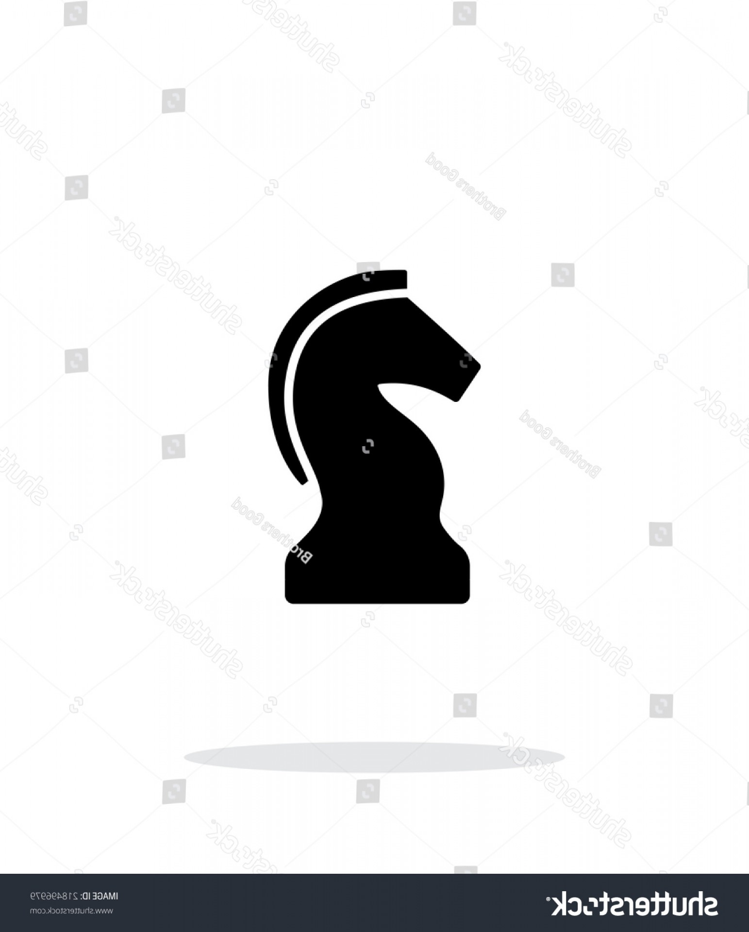 Chess Knight Logo Vector: Chess Knight Simple Icon On White