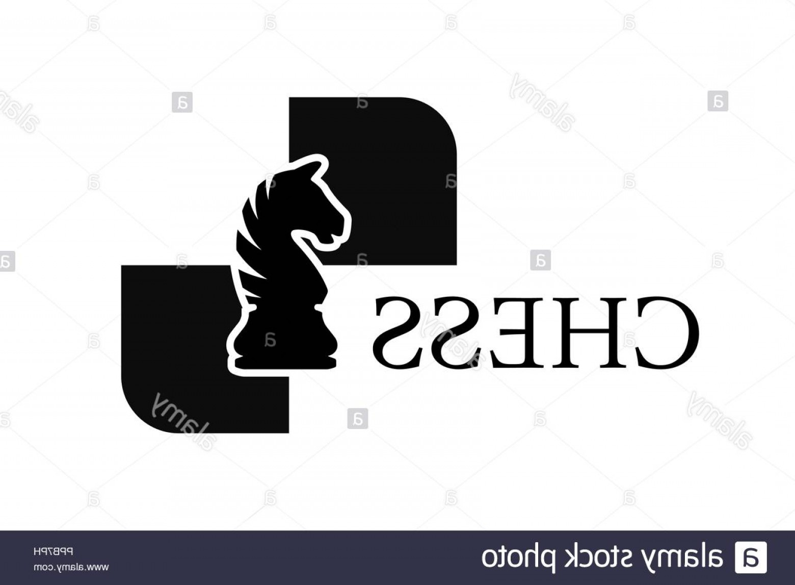 Chess Knight Logo Vector: Chess Knight Vector Logo Isolated On White Background Chess Piece Image