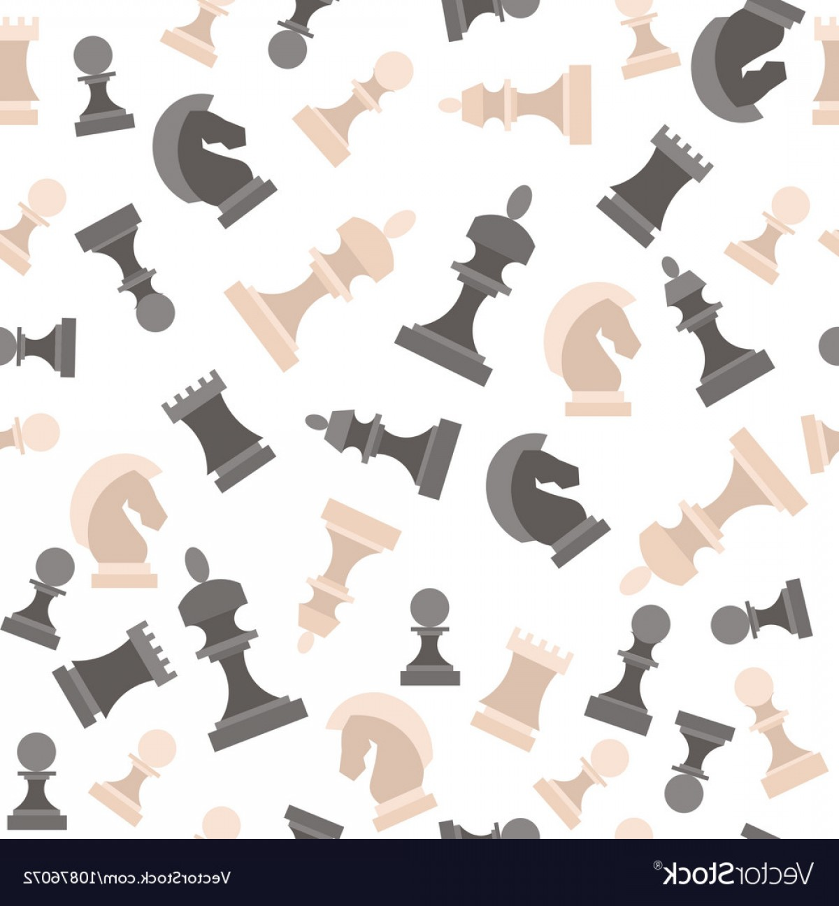Chess Vector Background: Chess Pieces Background Pattern Vector